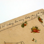 hand written book inscription