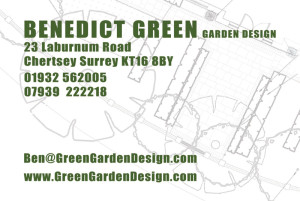 Green Garden Design business card