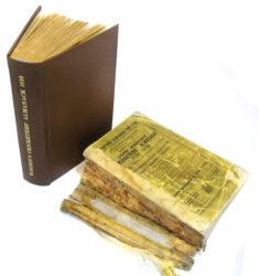 Restoring paperback book