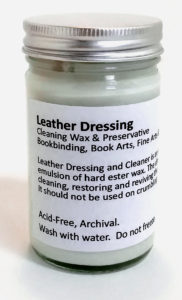 Bookbinding leather repair
