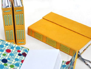 Leather Journal Giraffe Yellow