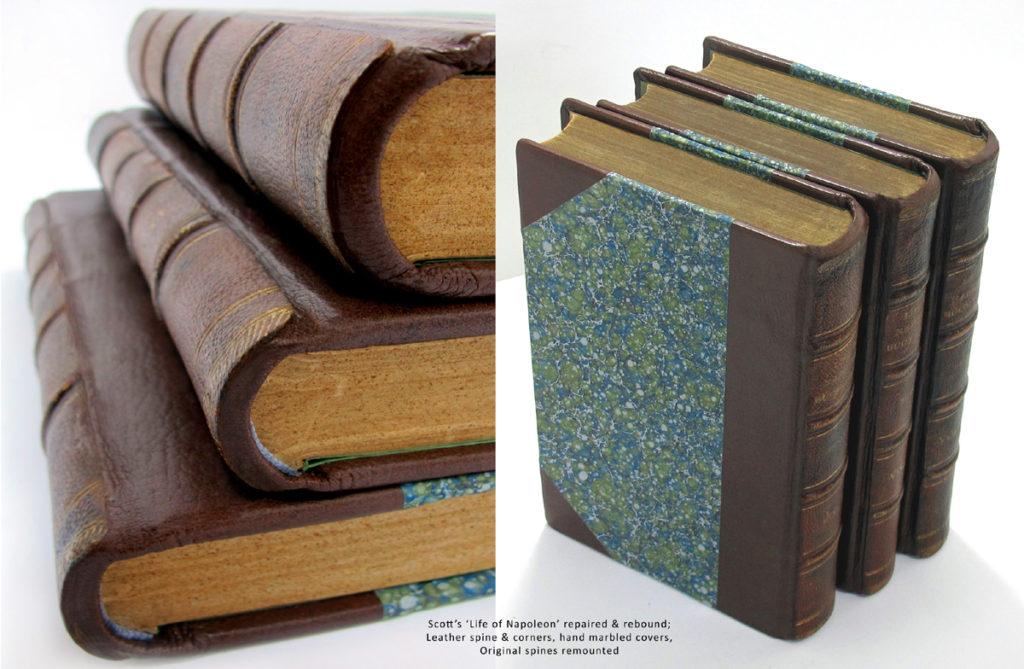 Book Repairs, leather binding, book restoration and rebinding