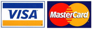 Secure payments with Visa Mastercard
