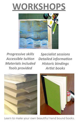 Hand Bound Books, Artist Editions, Book Repairs, Creative Bindings, Book Arts Workshops